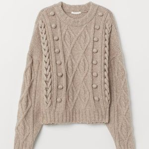 H&M Sweaters - H&M Wool Blend Cable-Knit